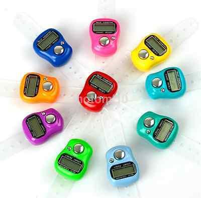 Digital Finger Ring Tally Counter Hand Held Knitting Row Counter Clicker Random
