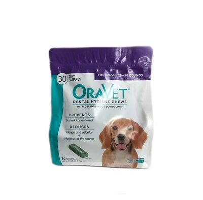 Oravet Dental Hygiene Chews Dogs 25-50lbs 30ct By Merial