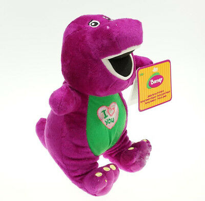 10'' Barney Sing I LOVE YOU Song Plush Doll Toy Christmas Gift For Children