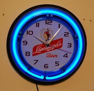 Leinenkugel 039 s Beer Vintage Logo Neon Logo Wall Clock #1: $ 35 JPG