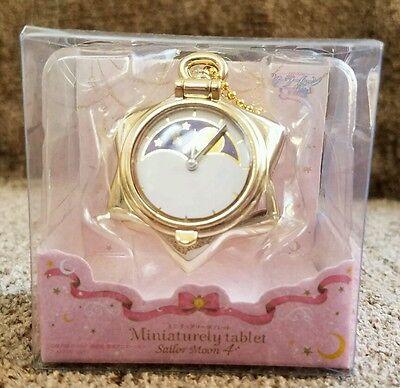 Sailor Moon Miniaturely Tablet 4 Manga Tuxedo Mask Pocket Watch Keychain Charm