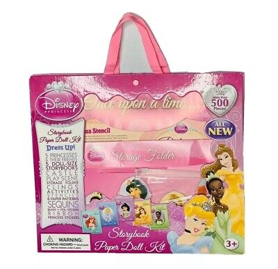 Disney Princess Storybook Paper Doll Kit (Disney Princess Storybook Paper Doll Kit Dress Up Stickers Castle Play)