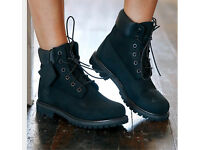 BLACK SUEDE TIMBERLAND BOOTS - BRAND NEW