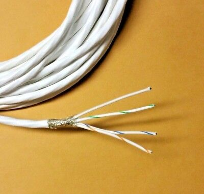 Wire Mil-spec Ptfe 20 Awg 4 Cond Shielded Silver Plated Copper Stranded 5ft