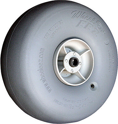 """Wheeleez 49cm (19.3"""") Grey Wheels - soft pneumatic tire for sand or soft surface"""