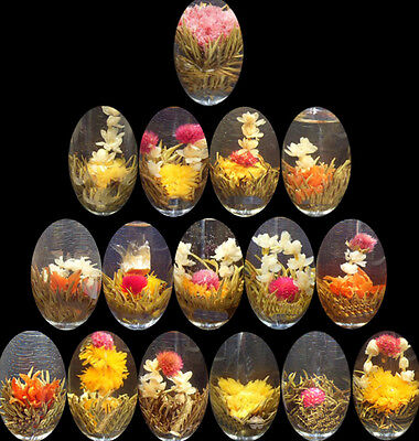 10 Balls Advantage Popular Different Handmade Blooming Flower Green Tea Gift WR