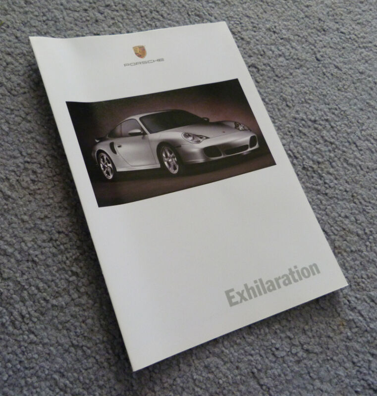 2000 PORSCHE Fold Out Poster Brochure - 911 Carrera Turbo, Boxster - CAR AUTO