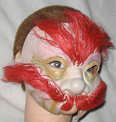 Halloween Masks Big W (Rubber Big Nose HALF Face Halloween Mask w Red Hair & Mustache One Size)