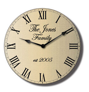 Personalised-Family-Wall-Clock-Classical-Design-Your-Own-Text-50cm-x-50cm