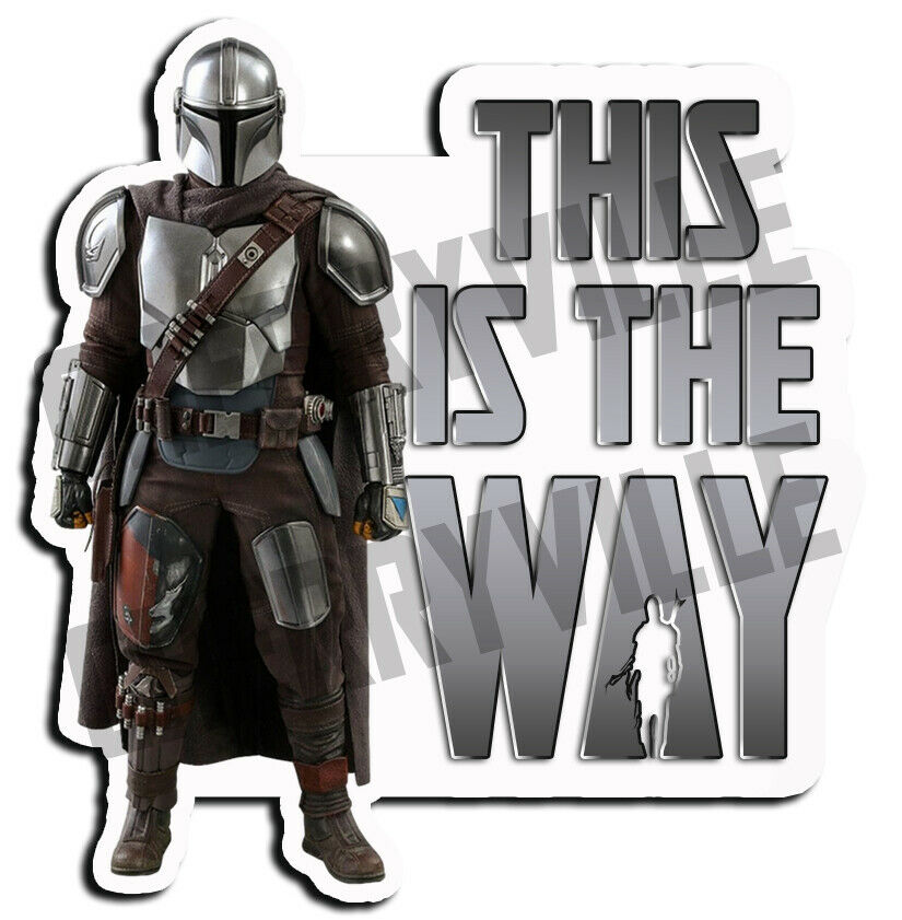Home Decoration - The Mandalorian THIS IS THE WAY vinyl decal sticker