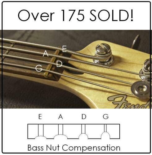"""AxeMasters 1 1/2"""" COMPENSATED BRASS NUT made for Fender JAZZ Bass and similar"""