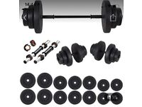 85kg Barbell set and dumbbell set weight fitness set