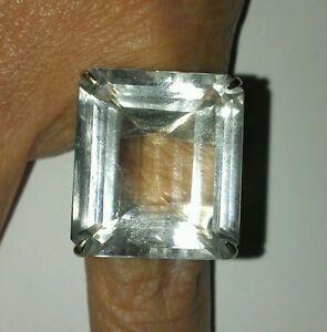 H.Stern Highlight Crystal Rock Ring 750 Weissgold 20*17 mm Brasilien Sonderpreis