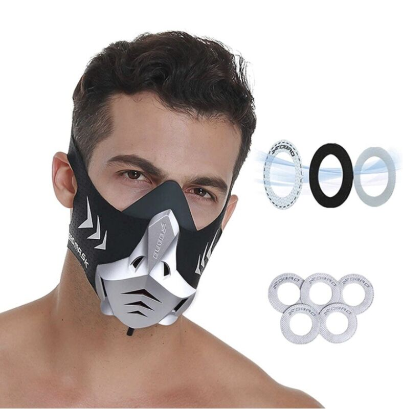 FDBRO Workout Training Running Cycling Mask Oxygen Resistance Face Mask Small