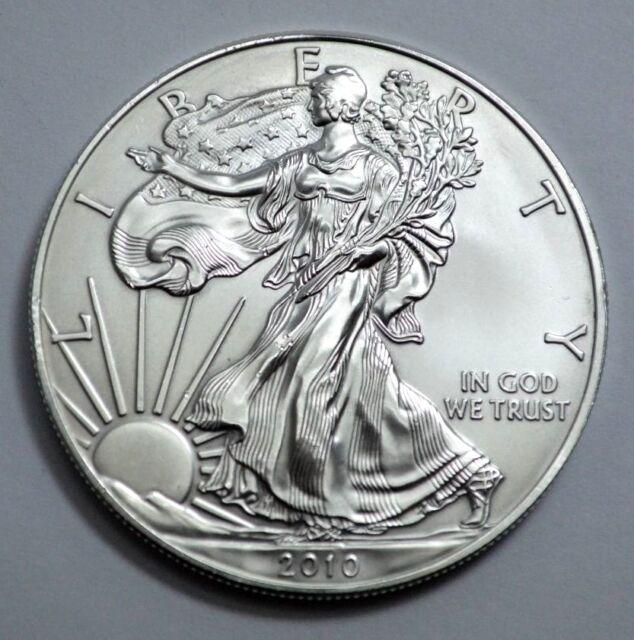 2010 American Silver Eagle Dollar 1 oz fine silver, Uncirculated
