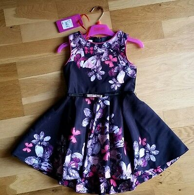 Ted Baker Girls Jewels Prom Party Dress - Black - Age 4yrs BNWT