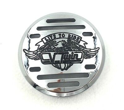 Chrome V-Twin Horn Cover- For Yamaha V-Star 650 Vstar Classic Custom (Fits: (Yamaha V Star 650 Custom Parts Accessories)