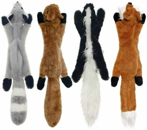 4 Pack Dog Squeaky Toys No Stuffing Dog Plush Toy For Small Medium Large Dogs