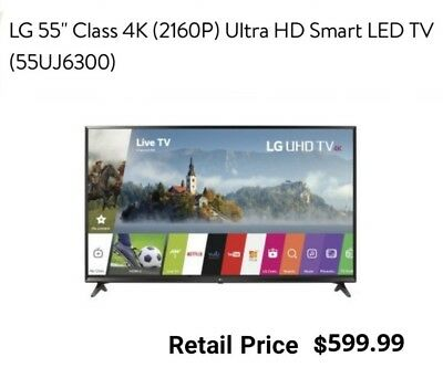"LG 55"" Class 4K (2160P) Ultra HD Smart LED TV AS IS PARTS ONLY"