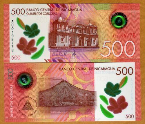 Nicaragua, 500 cordobas, 2017 (2019), P-New, POLYMER New Design, UNC