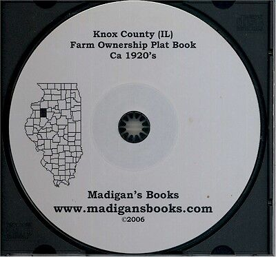 Knox Co Illinois IL plat genealogy Galesburg land owners history