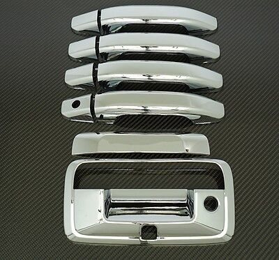 2014-2018 Chevy Silverado 1500 Triple Chrome 4 Door Handle+Tailgate With Camera  Chrome 1500 Triple Handle