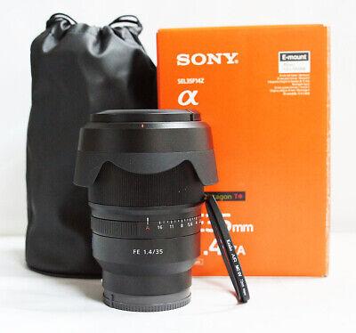 Sony SEL 35mm f/1.4 ZA T* FE Lens for sony E-mount SEL35F14Z + pouch ( MINT )