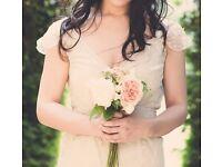 Jane Bourvis Vintage Edwardian Lace Wedding Dress, UK10 size