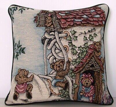 Boyds Bears & Friends - Old Bear In Shoe Nursery Rhyme  Tapestry Pillow -