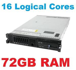 "16 Logical Cores IBM M3 Server X3650  , 2 X  E5620  , 72GB RAM , 2 X 300Gb 10K SAS  , 2 X PSU "" LOWEST PRICE IN CANADA"""