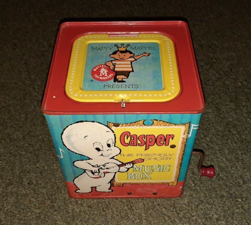 Vintage 1950s Casper The Friendly Ghost Jack In The Box/Music Box