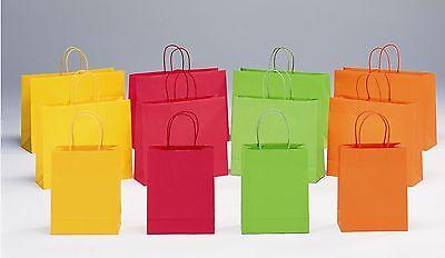 Orange Papiertüten (200 Papiertaschen Tüten Tragetaschen 22+10x27cm 110g ORANGE #10715 RESTPOSTEN)