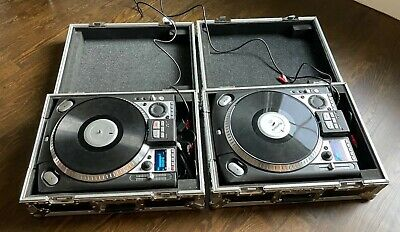 Two (2) Numark CDX professional CD Turntables with Road Ready Travel Cases