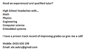 Private tutoring in Maths/Physics for Highschool/1rst Year Uni Rochedale Brisbane South East Preview