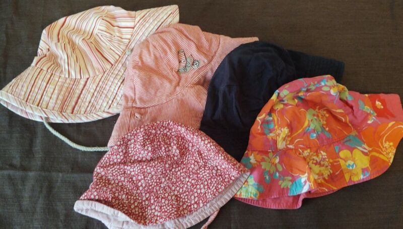 Set Of 5 Baby Sun Hats Place Tommy Hilfiger Old Navy Girls
