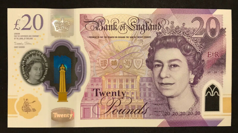 20 British Pound Banknote, Bank of England, UNC, 2018 Series