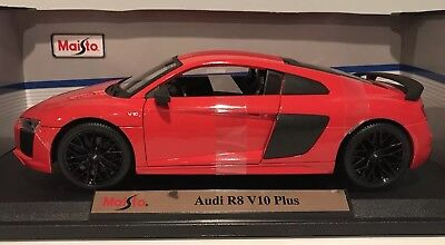 1:18 Audi R8 V10 Plus Red Maisto, used for sale  South Windsor