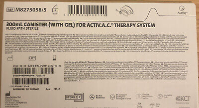 Kci 300ml Canisters With Gel For Acti-vac Therapy M8275058 Box Of 5