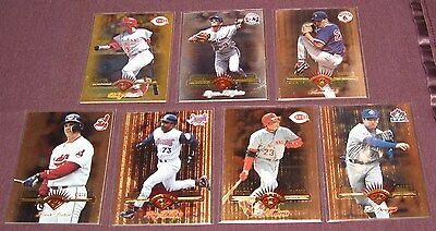 1997 Leaf Fractal Matrix Card Lot of 7 Reds Indians Red Sox
