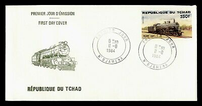DR WHO 1984 CHAD FDC TRAIN  C243807