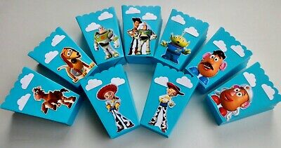 Party Favor Popcorn Boxes (Toy Story Party Favors, popcorn, candy treat boxes, birthday, SET OF 10)