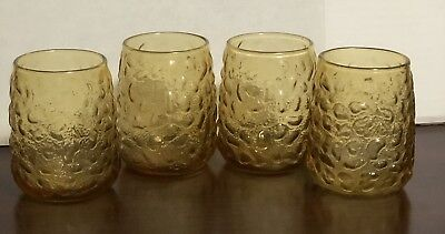 Pineapple Drinking Glasses (Lot Of 4 Vintage Pineapple Drinking Glasses 12 Oz. Excellent)
