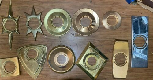 Kwikset Assorted set of Door Escutcheon Vintage New Old Stock Mid-century Modern