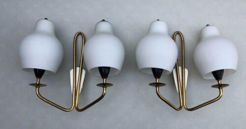 Vintage Mid-Century Two Light Sconces - Pair - Stilnovo