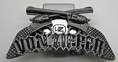 Von Zipper Belt Buckle With  Built In Lighter Holder Gun Colt  Made USA