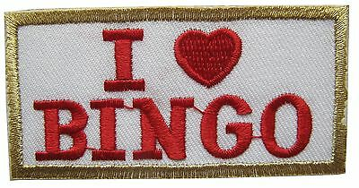 #3045 I Love BINGO Embroidery Iron On Applique Patch - I Love Bingo