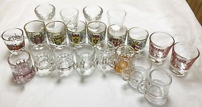 Mixed Lot Of 21 Shot Glasses Vintage Mini Beer Mugs German Cities Minnesota (Mini Beer Shot Glasses)