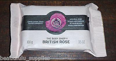 The BODY Shop BRITISH ROSE SOAP Exfoliating 100 g 3.5 oz Full Size NEW Lovely!