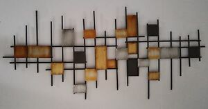 Home Decor | Hanging Wall Art: Iron Squares (2 Identical Pieces)