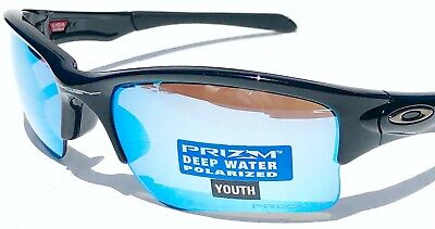 NEW* Oakley QUARTER JACKET Black Deep Water POLARIZED Youth H2O Sunglass 9200-16